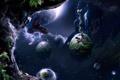 Картинка планеты, ворон, archipelago