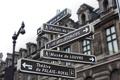 Картинка указатель, город, перекресток, Париж, Франция, Лувр, улица