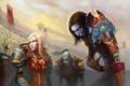 Картинка урод, монстр, арт, эльфийка, wow, world of warcraft
