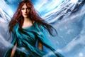Картинка девушка, снег, рисунок, платье, арт, Keira Knightley, ryky