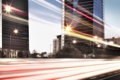 Картинка свет, город, дома, эффект