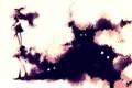 Картинка глаза, девушка, дым, арт, тени, mubouou aasaa