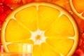 Картинка стакан, сок, долька, кольцо, апельсин, рисунок, вектор