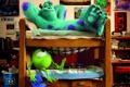 Картинка Корпорация монстров, Monsters University, студенты, мультфильм, Академия монстров, Monsters Inc., комната