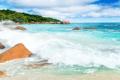 Картинка tropical, summer, shore, волны, sand, море, песок