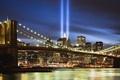 Картинка Бруклинский мост, New York, World Trade Center, Brooklyn Bridge