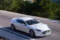 Картинка white, деревья, дорога, авто, car, Aston Martin, Rapide S