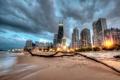 Картинка Чикаго, Иллинойс, Chicago, Illinois, Beach, Skyline, usa
