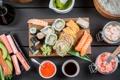 Картинка rolls, sushi, суши, роллы, японская кухня, продукты, Japanese cuisine