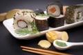 Картинка суши, sushi, роллы, зелень, sticks, rolls, имбирь