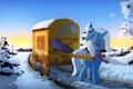 Картинка Trixie, деревья, дорога, My little pony, пони, снег, повозка