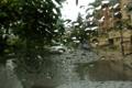 Картинка стекло, капли, дождь, улица