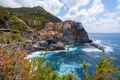 Картинка Ligurian Sea, Italy, Чинкве-Терре, скалы, пейзаж, Cinque Terre, Манарола