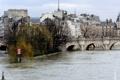 Картинка деревья, мост, река, Париж, дома