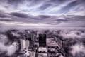 Картинка небо, облака, город
