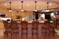 Картинка дизайн, стиль, лампы, мебель, кресла, кухня, стойка
