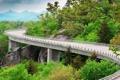Картинка дорога, лес, пейзаж, мост, Природа