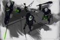 Картинка киборг, мечи, воины, art, cyberpunk
