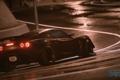 Картинка фары, Lotus, спорткар, мокрый асфальт, Exige S, Need For Speed 2015