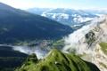 Картинка Green, Clouds, Switzerland, Forest, Fog, Mountain