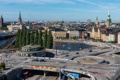 Картинка река, здания, дороги, дома, Швеция, мосты, Stockholm