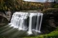 Картинка Autumn, Waterfall, Letchworth State Park, Middle Falls