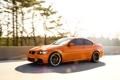Картинка оранжевый, bmw, бмв, скорость, orange, e92