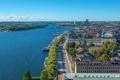Картинка город, река, фото, сверху, Швеция, Stockholm