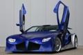 Картинка авто, синий, суперкар, Weber Faster One