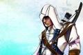 Картинка арт, assassins creed, ассасин, коннор кенуэй