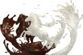 Картинка брызги, шоколад, молоко