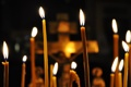 Картинка огонь, распятие, Свечи, церковь, воск, свет, собор