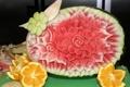 Картинка ягода, цветок, цитрус, фрукты, апельсин, арбуз
