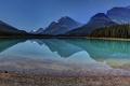 Картинка лес, небо, горы, озеро, отражение