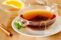 Картинка tea, mint leaves, tea bag, палочка корицы, stick cinnamon, пакетик чая, листик мяты