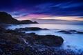 Картинка море, ночь, берег, маяк, Великобритания, Уэльс, Michael Breitung
