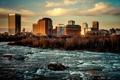 Картинка река, дома, Город