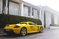 Картинка желтый, дом, Porsche, house, порше, yellow, carrera