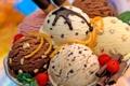 Картинка fruit shell, different flavors, ice cream, strawberries