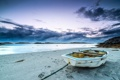 Картинка море, пляж, пейзаж, лодка