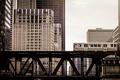 Картинка мост, здания, поезд, дома, Чикаго, USA, Chicago