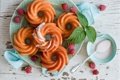 Картинка малина, глазурь, тортики