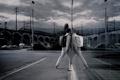 Картинка ночь, стиль, отражение, Город, нуар
