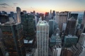 Картинка город, Нью-Йорк, небоскребы, утро, США, Manhattan, мегополис