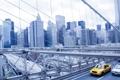 Картинка мост, город, небоскребы, USA, америка, сша, New York City