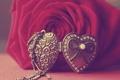 Картинка роза, бусинка, кулон, сердечко, фото