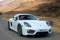 Картинка дорога, car, машина, скорость, Porsche, Cayman, white