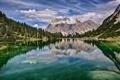Картинка облака, небо, Германия, природа, горы, озеро, Альпы
