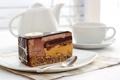 Картинка шоколад, чайник, чашка, торт, кусок
