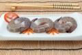 Картинка япония, еда, палочки, суши, креветки